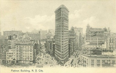 Flat_Iron_building_postmarked_1908